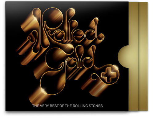 Rolling Stones: Rolled Gold typography