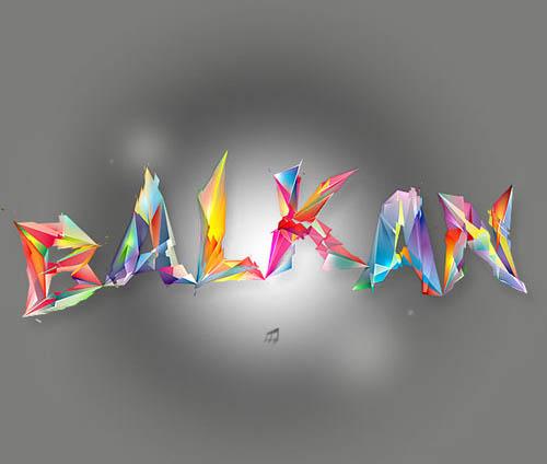 balkan typography
