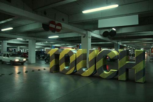 type installations typography