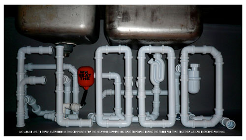 Pipe font typography