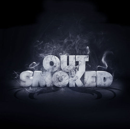 Out Smoked typography