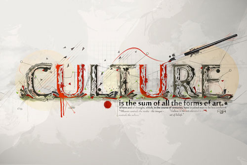 Culture typography