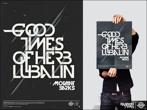 GOOD TIMES OF HERB LUBALIN typography
