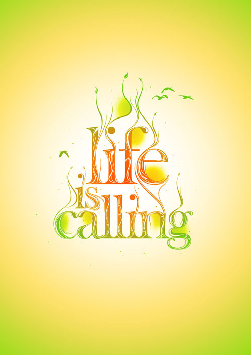 Life Is Calling typography