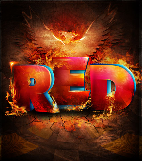 RED typography