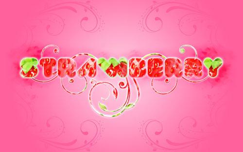 Strawberry typography