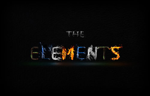The 4 Elements typography