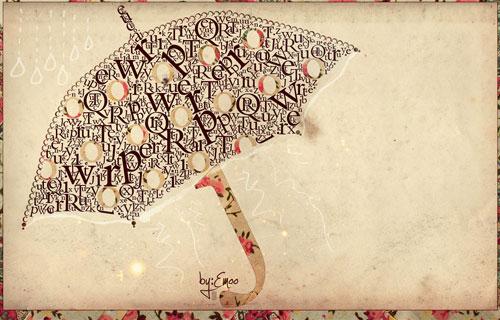 umbrella typography