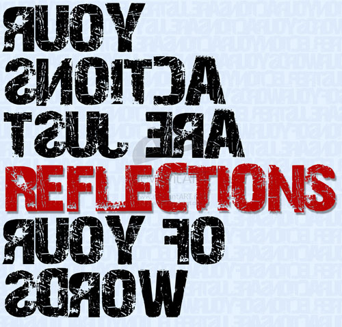 Typography reflections