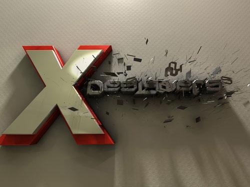 X-Bombed typography