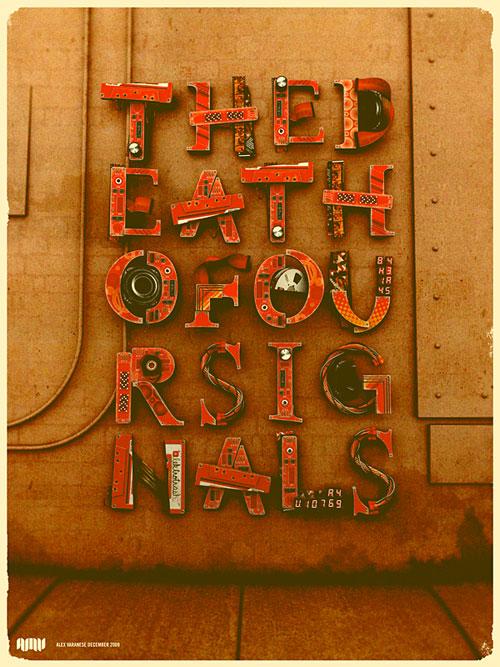 elecktrotrash typography
