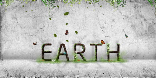 Earth typography