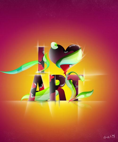 i Love Art typography