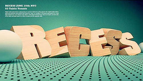 recess typography