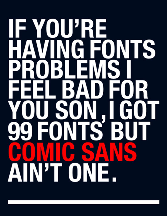 Comic sans Typography Inspiration
