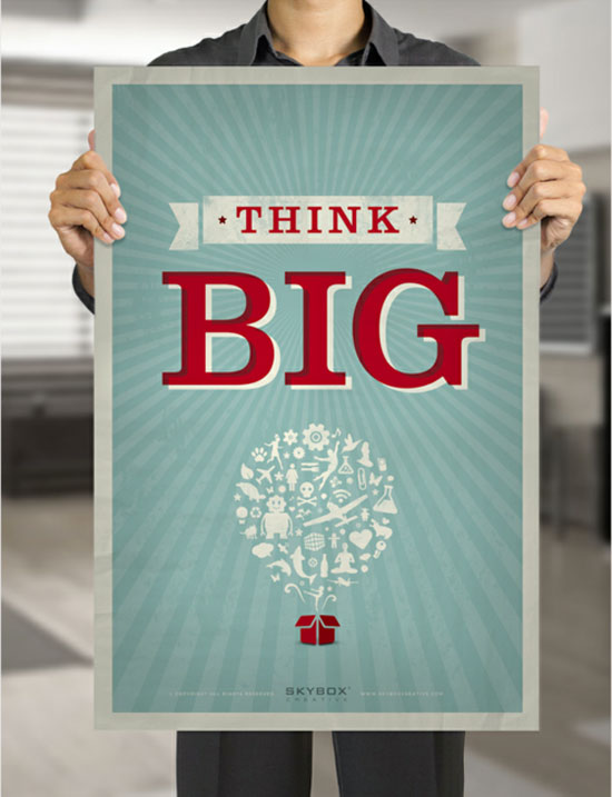 Think big Typography Inspiration