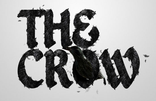 The crow Typography Inspiration