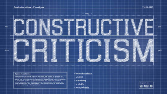 Constructive criticism Typography Inspiration