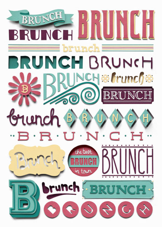 Brunch Typography Inspiration