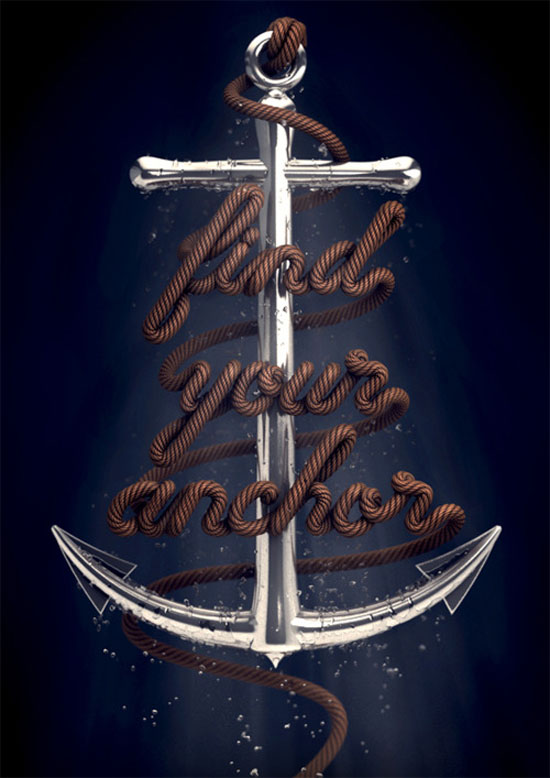 Find Your Anchor Typography Inspiration