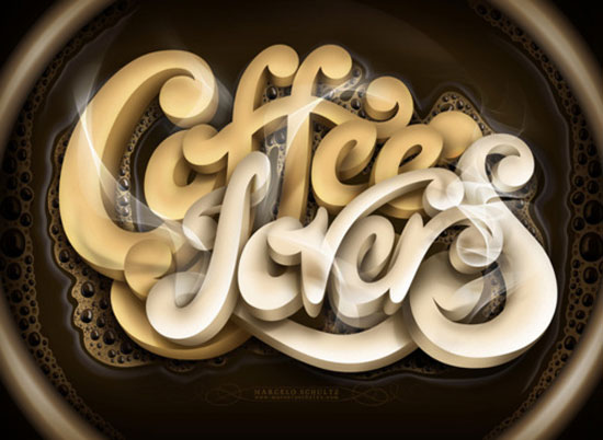 Coffee fever Typography Inspiration