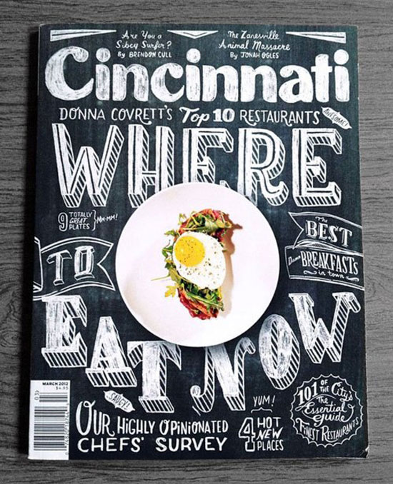 Cincinnati Magazine Cover Typography Inspiration