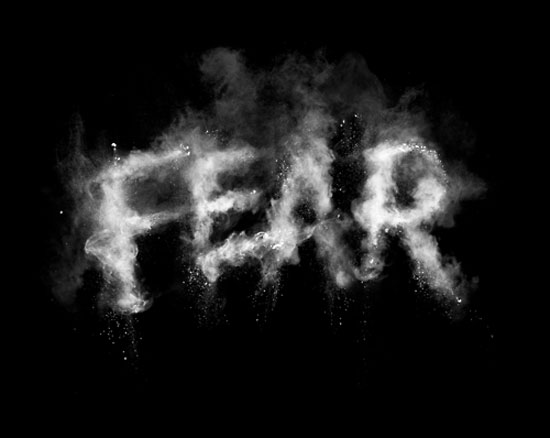 Fear Typography Inspiration