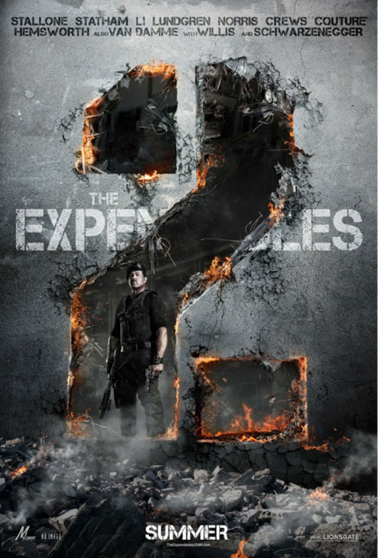 Expendables 2 Typography Inspiration