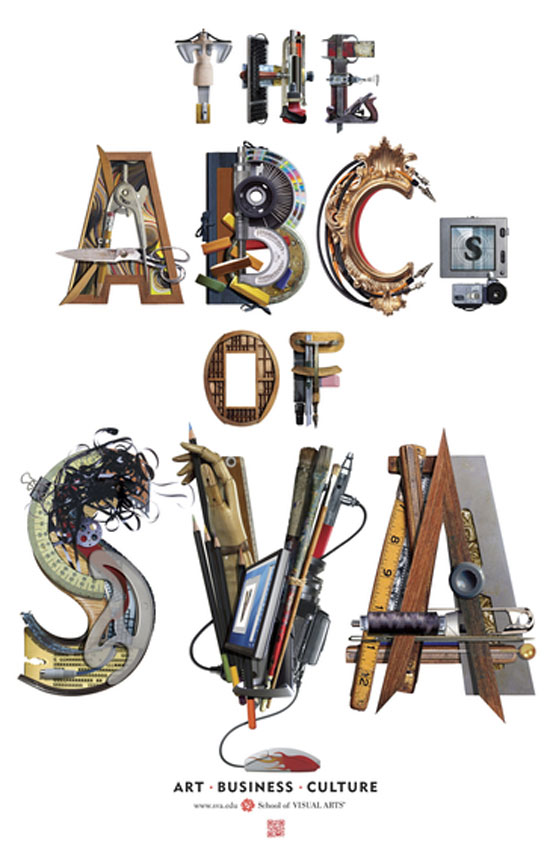 The ABC's of SVA Typography Inspiration