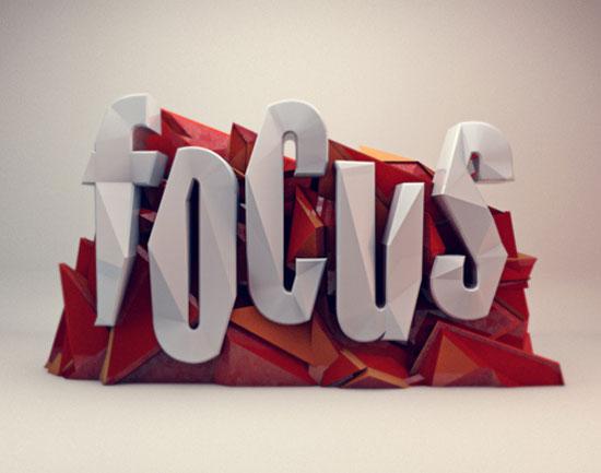 Focus Typography Inspiration