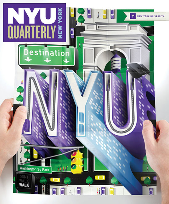 NYU Magazine Cover Typography Inspiration