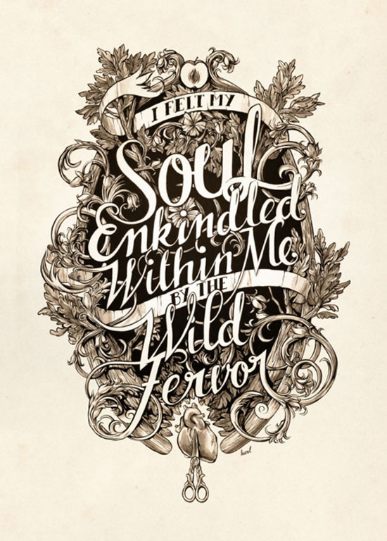 Soul Enkindled Typography Inspiration