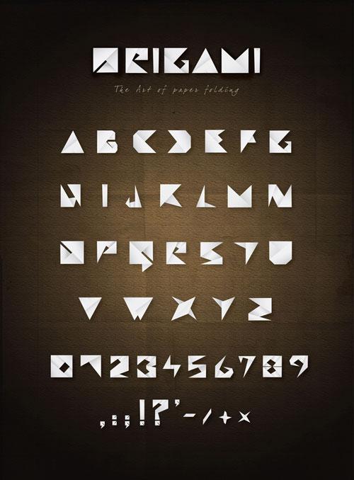 Origami typography