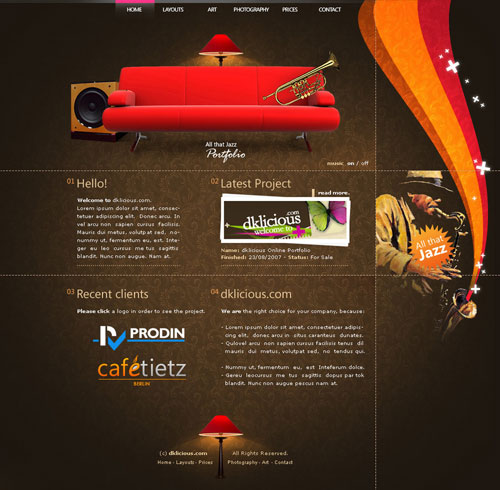 Spectacular Web Designs With Unique Layouts 25