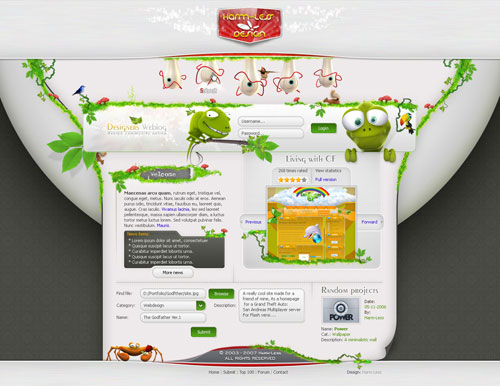 Spectacular Web Designs With Unique Layouts 17