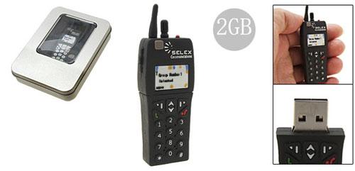 Novelty Mini Mobile Phone Shaped 2GB USB Memory Stick