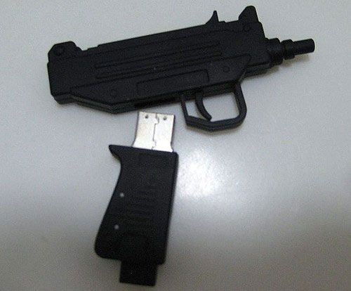 Uzi-Shaped Flash Drive