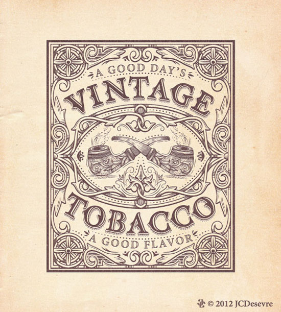 Vintage Tobacco Vintage Typography Design