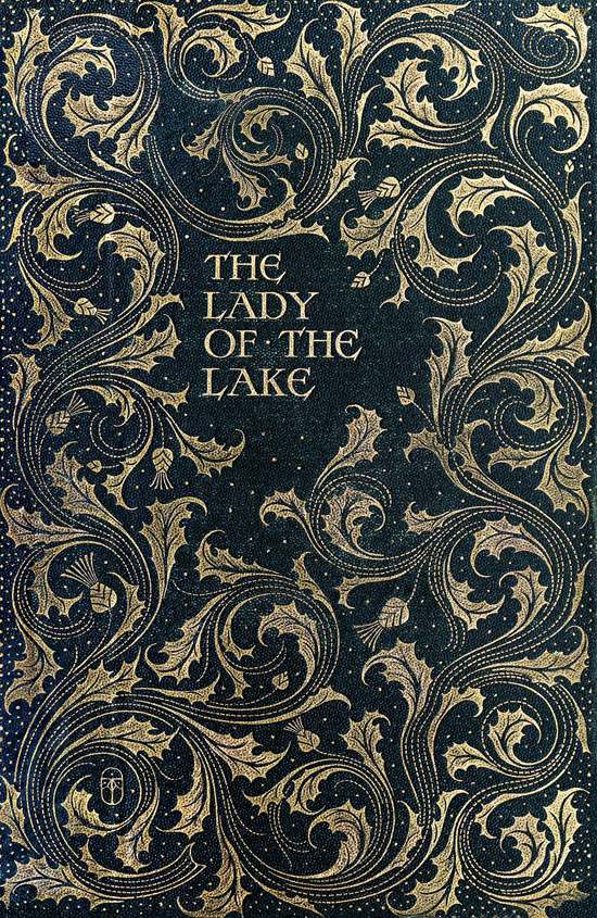 The lady of the lake Vintage Typography Design