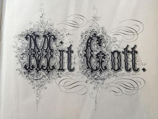 Mit Gott Vintage Typography Design
