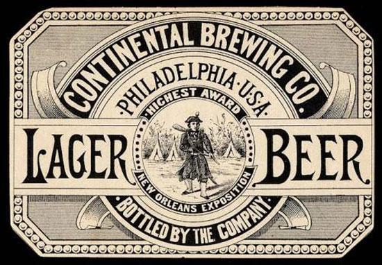 Lager Beer Vintage Typography Design