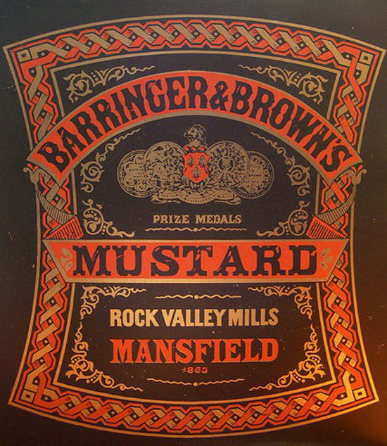 Barringer & Brown's Mustard Vintage Typography Design
