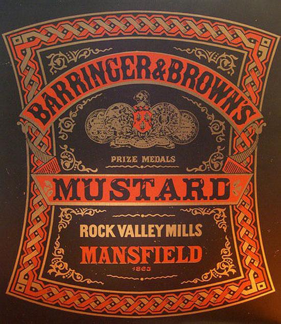 Barringer & Brown's Mustard Vintage Typography Design