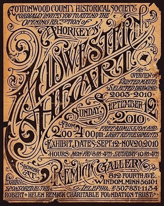 Western heart Vintage Typography Design