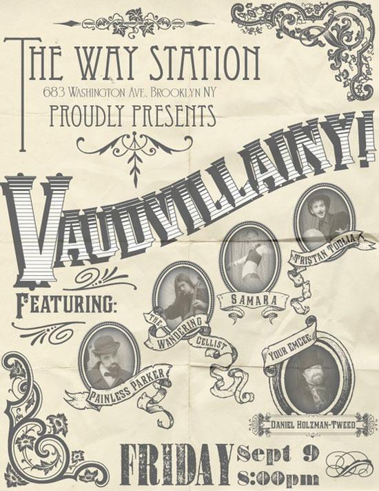 Vaudvillany Vintage Typography Design