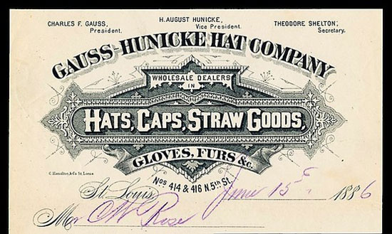 Hats, caps, straw goods Vintage Typography Design