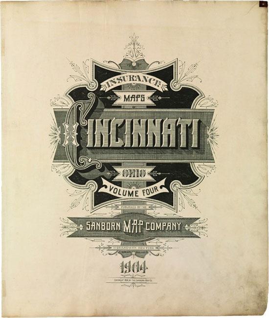 Cincinnati Vintage Typography Design