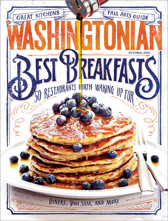 Washingtonian Best Breakfasts Vintage Typography Design