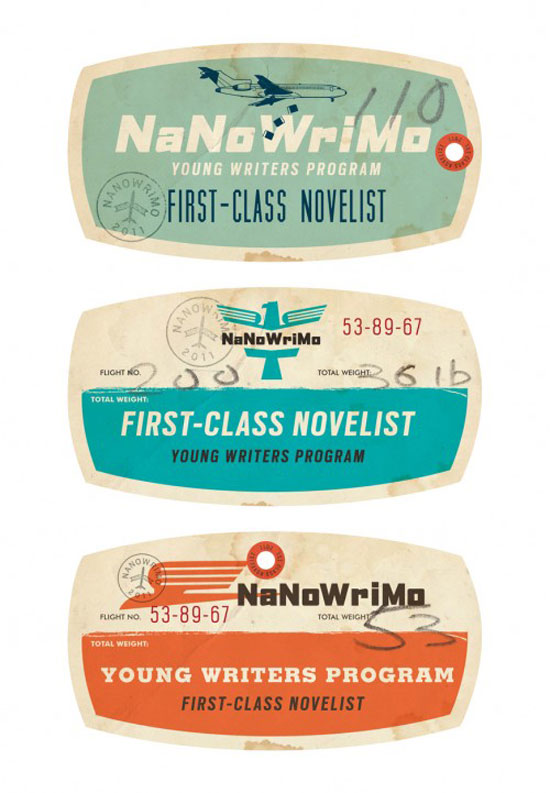 Luggage tags Vintage Typography Design