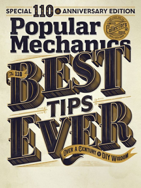 Popular mechanics Vintage Typography Design